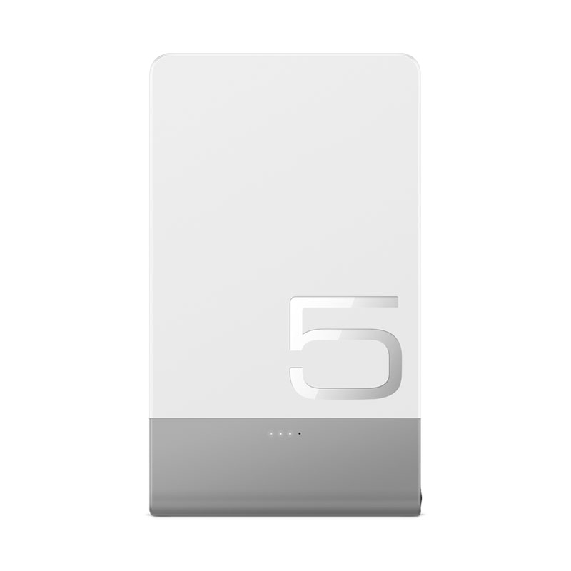 Ultra Thin Power Bank White 5000 MAH